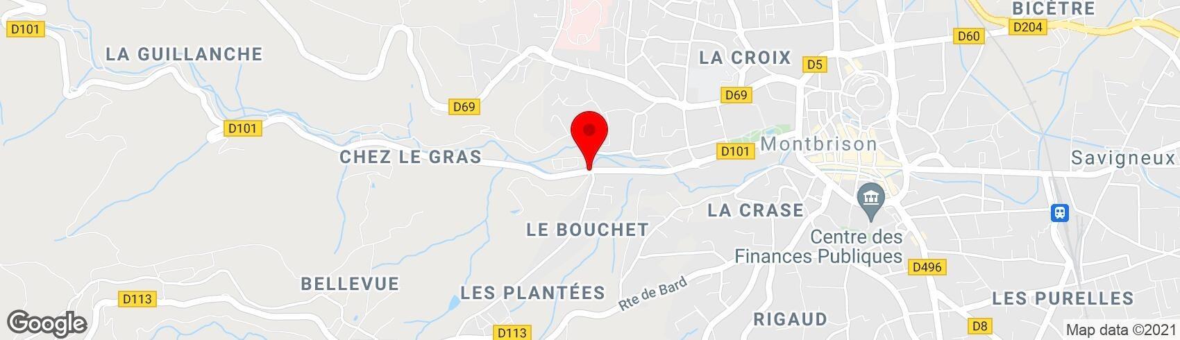 Localisation sur Google Map (nouvelle fenêtre)